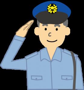 騒音トラブルの相談にのる警察官