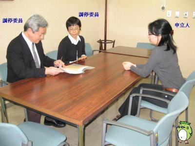 調停中の雰囲気画像引用元http://www.courts.go.jp/niigata/about/koho/l4/Vcms4_00000160.html
