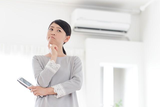 故障したエアコン
