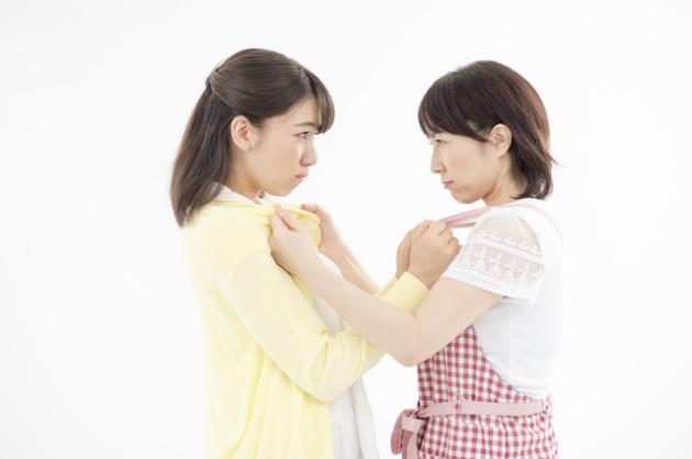 嫁と姑目の喧嘩